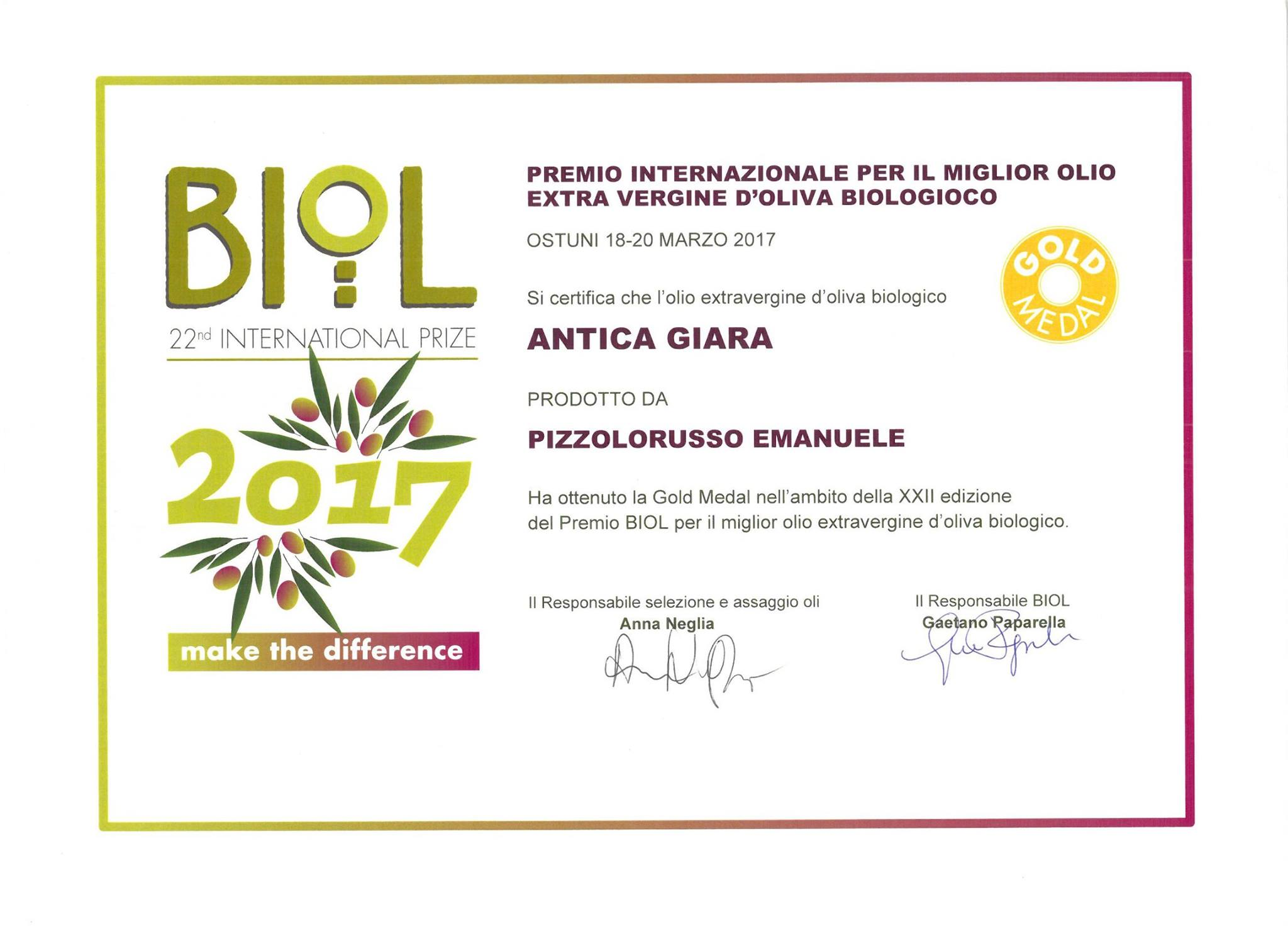 Premio biol 2017 antica giara for Miglior software di costruzione della casa